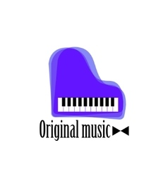 Music piano logo Jazz logo Color music template vector image