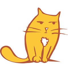 Orange Cat vector image vector image