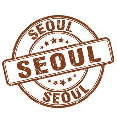 Seoul stamp vector