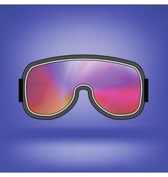 Ski goggle with colorful glasses vector