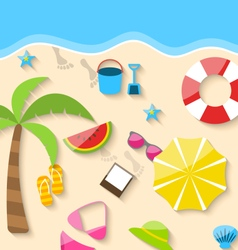 Summer Time Background vector image vector image