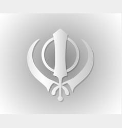 symbol of the sikhs khanda vector image