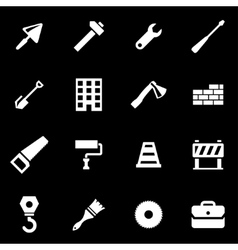 white construction icon set vector image