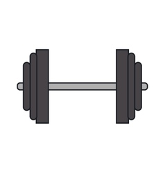 Isolated weight of fitness gym vector