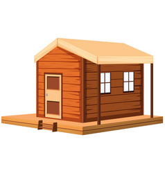 wooden cottage in 3d design vector image