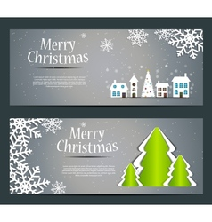 Abstract beauty christmas and new year banner vector