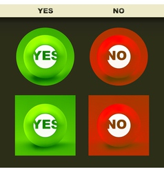 Yes and No icon set for design vector image