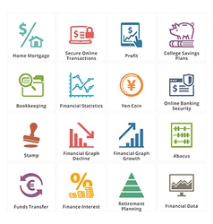 Personal business finance icons set 3 vector