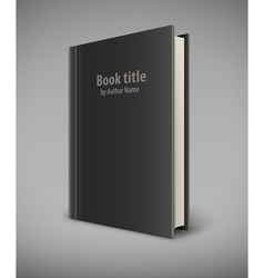 Book template with black cover vector image
