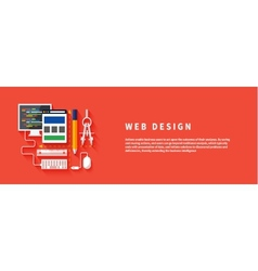 Web design program for design and architecture vector