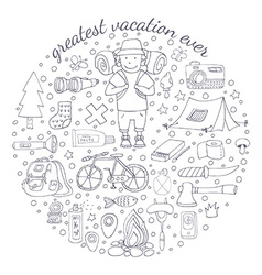 Adventure emblem vector
