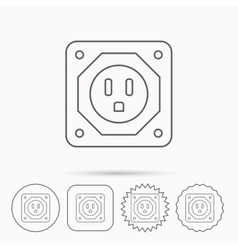 Usa socket icon electricity power adapter vector