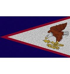 Flags American Samoa on denim texture vector image