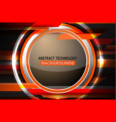 Abstract circle tech background vector