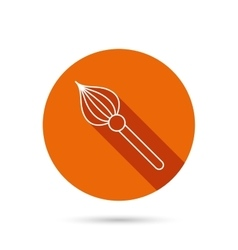 Brush icon paintbrush tool sign vector