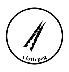 Cloth peg icon vector