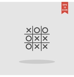 Tic tac toe game - eps10 vector