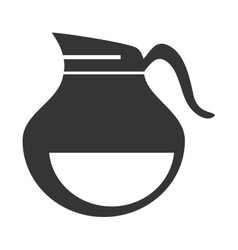 Jug for drinks isolated flat icon vector