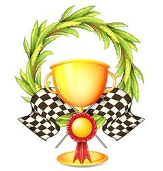 A golden trophy vector image