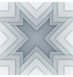 Abstract white and gray triangle shapes background vector image vector image
