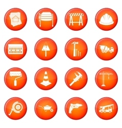 Architecture icons set vector
