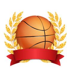 basketball award sport banner background vector image vector image