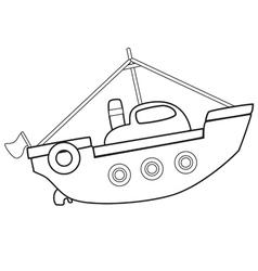 boattoybw vector image vector image