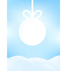 Christmas retro greeting card EPS10 vector image