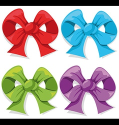 color bow vector image