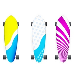 Colored longboards vector