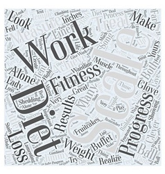 Dieting and fitness word cloud concept vector