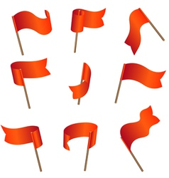 Flagset red vector image vector image