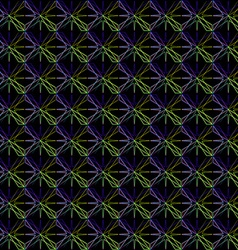 Geometric pattern of blue stars vector image vector image