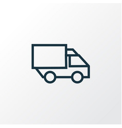 Lorry outline symbol premium quality isolated vector