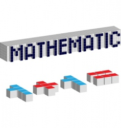 mathematic cubes vector image
