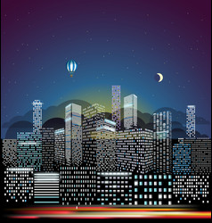 Modern cityscape in the morning city buildings vector