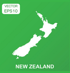 New zealand map icon business concept new zealand vector