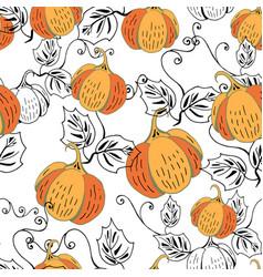 orange pumpkin on white vector image vector image