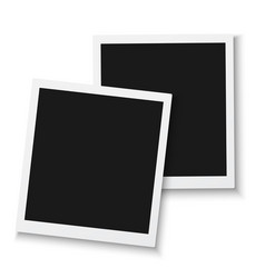 photo frame mockup isolated vector image vector image
