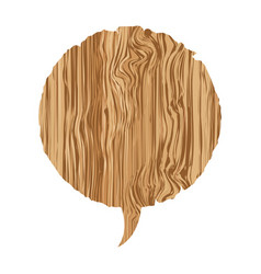 Round wood chat bubble icon vector