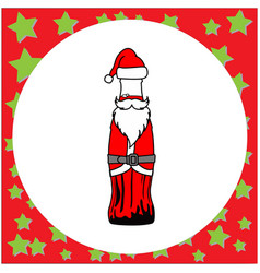 santa claus in the shape of bottle vector image