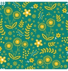 Seamless floral pattern colorful vector