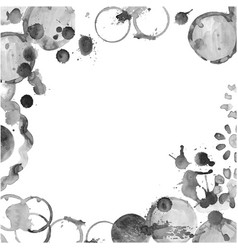 set of stains grunge glass stains vector image vector image