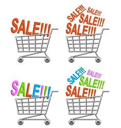 Shoppingcarts set vector image vector image