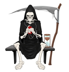 The death sitting on a bench vector