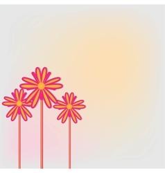 three flower vector image vector image