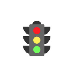 traffic light flat icon stop light and navigation vector image