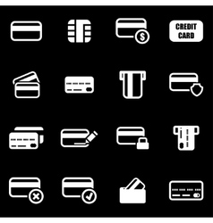 white credit card icon set vector image