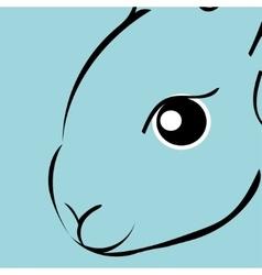 Rabbit animal cartoon vector