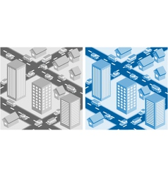 Decorative cityscape vector